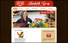 Screen Shot of Humboldt Co-op's home page