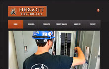 Screen Shot of Hergott Electric home page