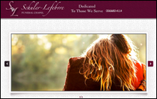 Screen Shot of the home page of Schuler-Lefebvre Funeral Chapel
